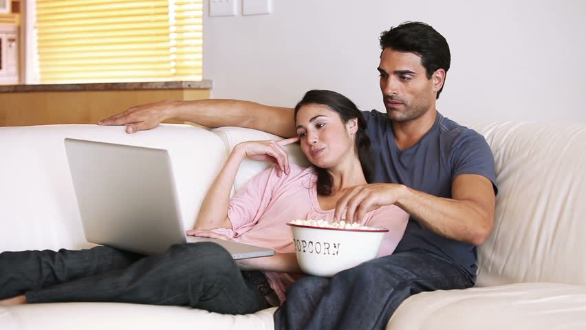 Local couple looking forward to an evening of scrolling